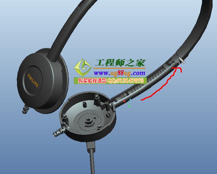 proe5.0飞利浦耳机结构设计视频教程