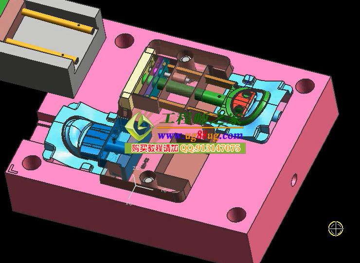 0双色模包胶模设计热流道模具设计