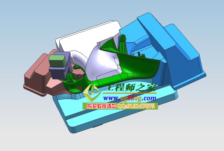 ug7.5顶级汽车配件塑胶模具设计四案例送模具图